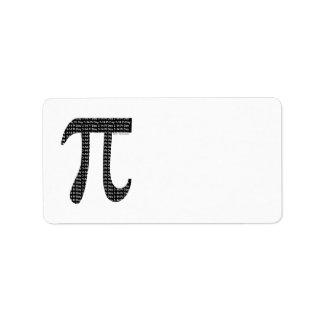 Pi simple etiqueta de dirección
