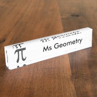 Pi Simple Desk Name Plate