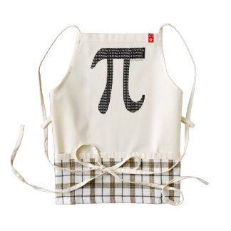 Pi Simple Zazzle HEART Apron