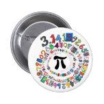 Pi sPiral 2 Inch Round Button