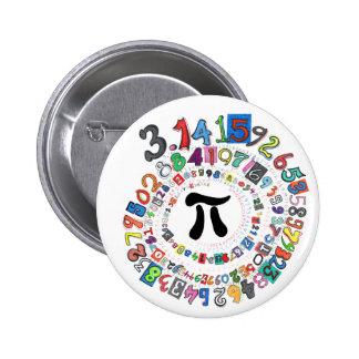 Pi sPiral Pinback Button