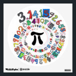 """Pi sPiral Wall Decal<br><div class=""""desc"""">Colorful,  fun depiction of pi to more than one hundred places. Great for math lovers.</div>"""
