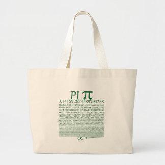 Pi Square Green Jumbo Tote Bag