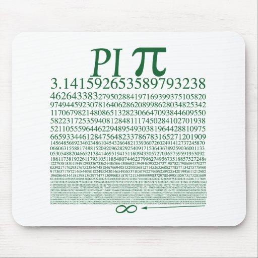 Pi Square Green Mouse Pad