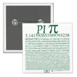 Pi Square Green Pin
