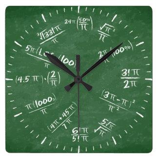 Pi Square Wall Clock