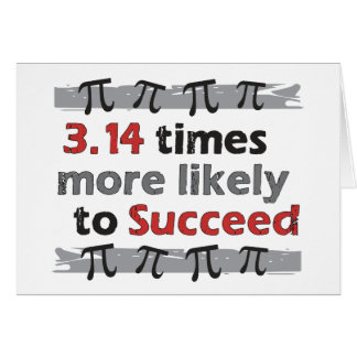 Pi Success Funny Math Graduation Card