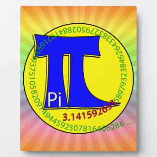 Pi Symbol 3.14 Ultimate Plaque