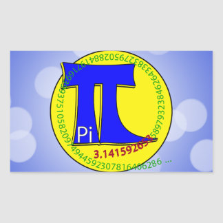 Pi Symbol 3.14 Ultimate Rectangular Sticker
