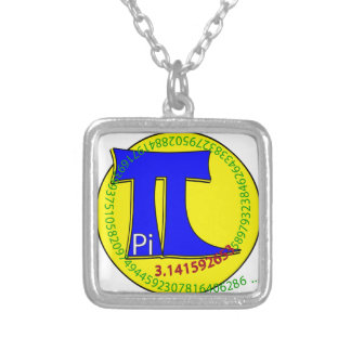 Pi Symbol 3.14 Ultimate Silver Plated Necklace