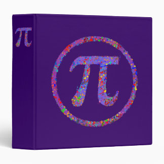 Pi Symbol Action Painting Splatter Binder