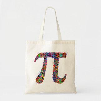 Pi Symbol Action Painting Splatter Budget Tote Bag