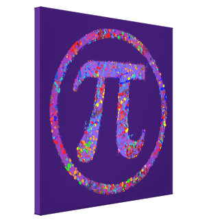 Pi Symbol Action Painting Splatter Canvas Print