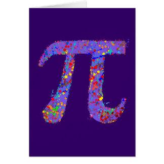 Pi Symbol Action Painting Splatter Card