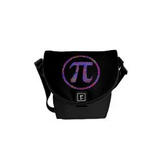 Pi Symbol Action Painting Splatter Courier Bag
