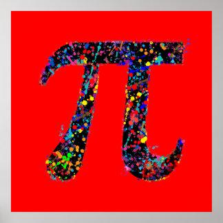 Pi Symbol Action Painting Splatter Print