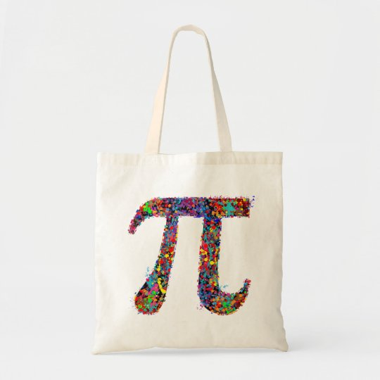 Pi Symbol Action Painting Splatter Tote Bag