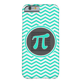 Pi symbol; Aqua Green Chevron Barely There iPhone 6 Case