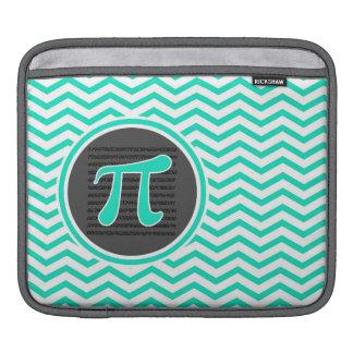 Pi symbol; Aqua Green Chevron iPad Sleeve