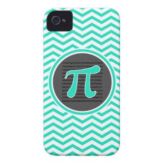 Pi symbol; Aqua Green Chevron iPhone 4 Case-Mate Case