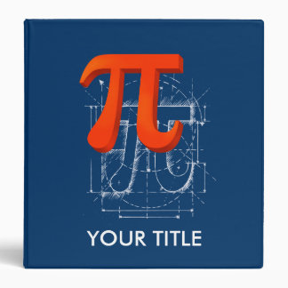 Pi Symbol Art 3 Ring Binder