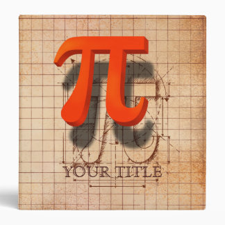 Pi Symbol Art Binder