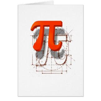 Pi Symbol Art Card