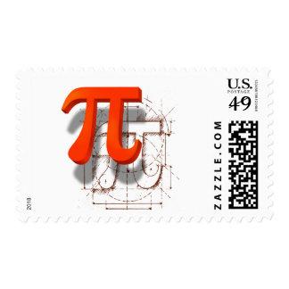 Pi Symbol Art Postage Stamp