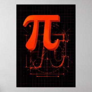 Pi Symbol Art Print
