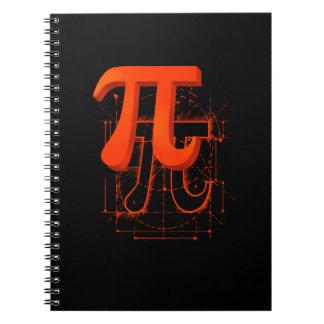 Pi Symbol Art Spiral Note Books