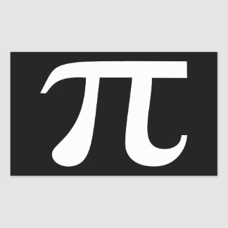 Pi Symbol Black And White Rectangular Sticker