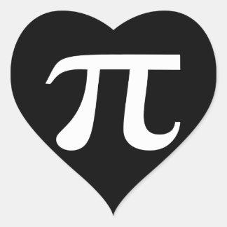 Pi Symbol Black And White Heart Stickers