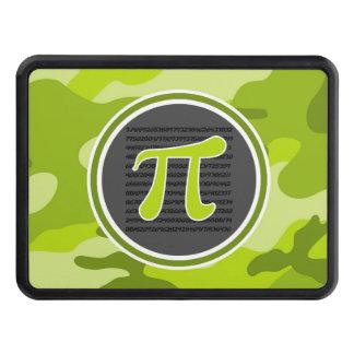 Pi symbol; bright green camo, camouflage trailer hitch cover