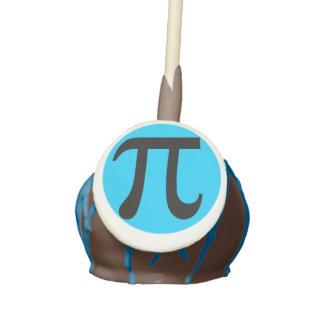Pi Symbol Cake Pops Blue Cake Pops