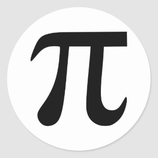 Pi Symbol Classic Round Sticker