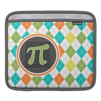 Pi symbol; Colorful Argyle Pattern iPad Sleeve