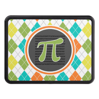 Pi symbol; Colorful Argyle Pattern Trailer Hitch Covers