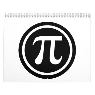 Pi symbol icon calendar