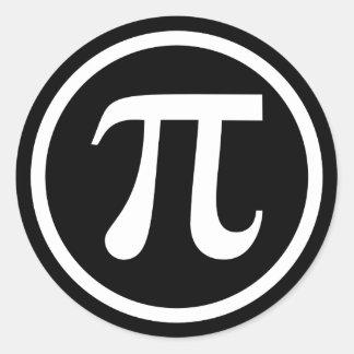 Pi symbol icon classic round sticker