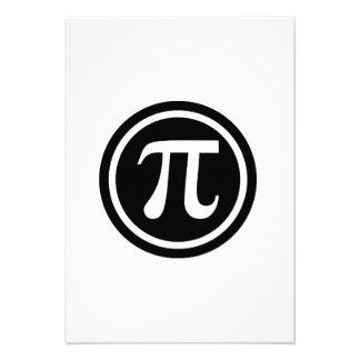 Pi symbol icon personalized announcements