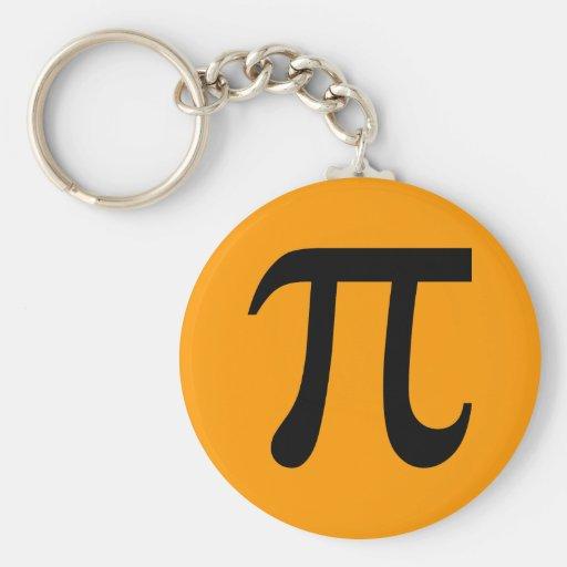 Pi Symbol Keychains