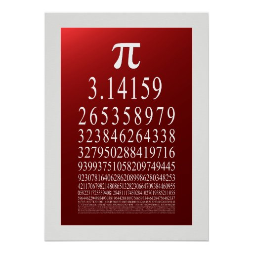 Pi Symbol Many Digit Number Print
