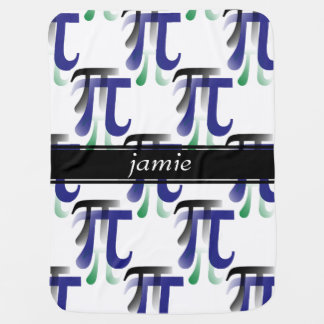 Pi Symbol Math Personalized Baby Blanket