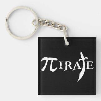 Pi Symbol Pirate Keychain