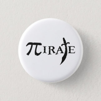 Pi Symbol Pirate Pinback Button
