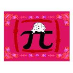 Pi Symbol Post Card