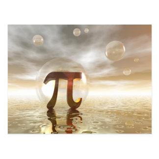 Pi Symbol postcard