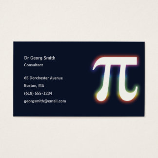 Pi Symbol | Scientist Business Card