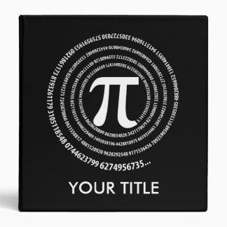 Pi Symbol Spiral 3 Ring Binder