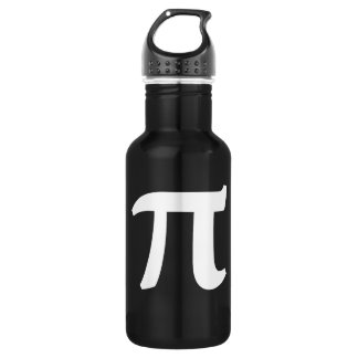 Pi Symbol Stainless Steel Water Bottle